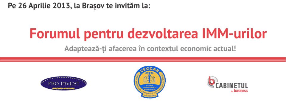 Recomandare Eveniment: Forumul pentru Dezvoltarea IMM-urilor