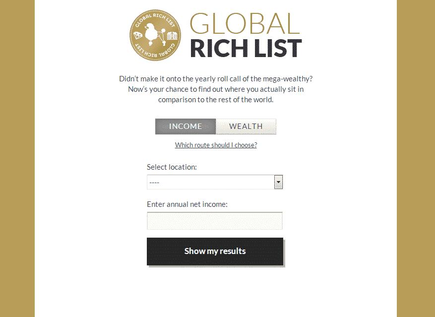 Cat de bogat esti