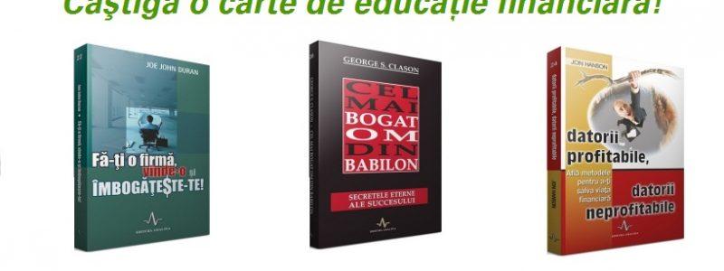 Concurs! Editura Amaltea iti ofera o carte de educatie financiara