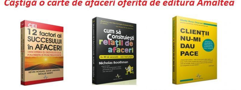 [Concurs] Castiga 3 carti de afaceri oferite de editura Amaltea