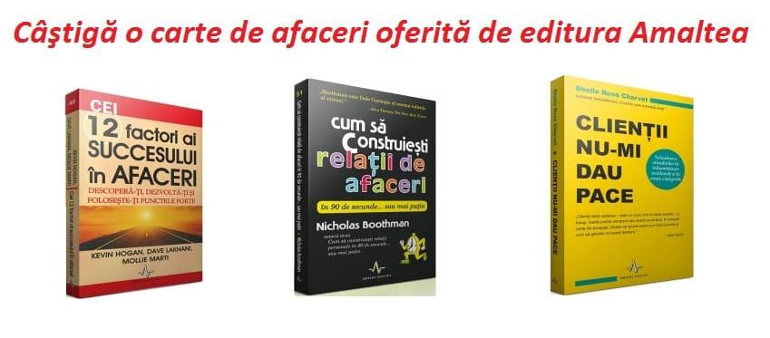 3 carti de afaceri oferite de editura Amaltea