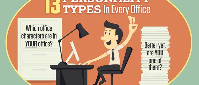 Cele 13 personalitati de la birou!