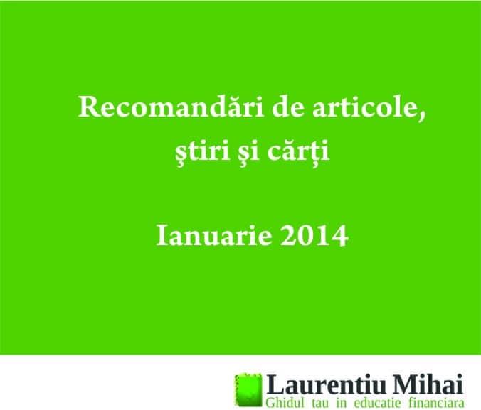 Recomandari ianuarie 2014