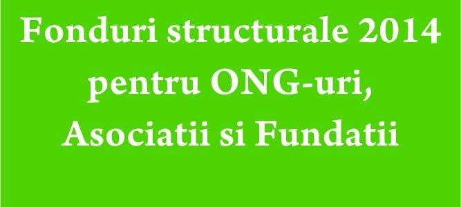 Fonduri structurale 2014 pentru ONG-uri, Asociatii si Fundatii
