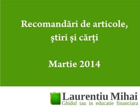 recomandari martie
