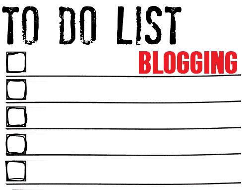 to do list pentru inceperea unui blog