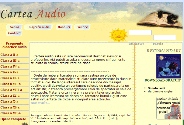cartea audio ro