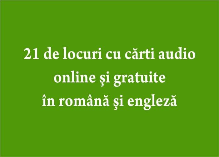 carti audio online si gratuite