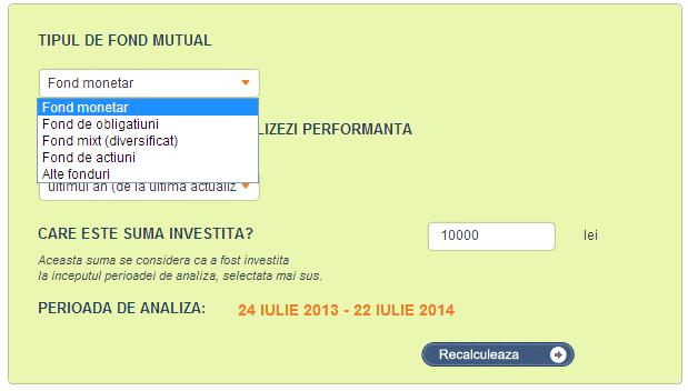 studiu fonduri mutuale