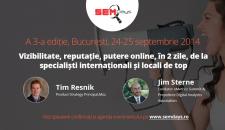 Intalneste-i pentru prima oara in Romania pe Tim Resnik si Jim Sterne la SEM Days 2014