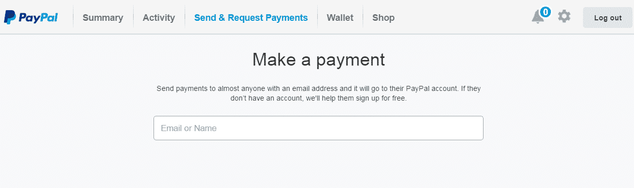 make a paypant cont paypal