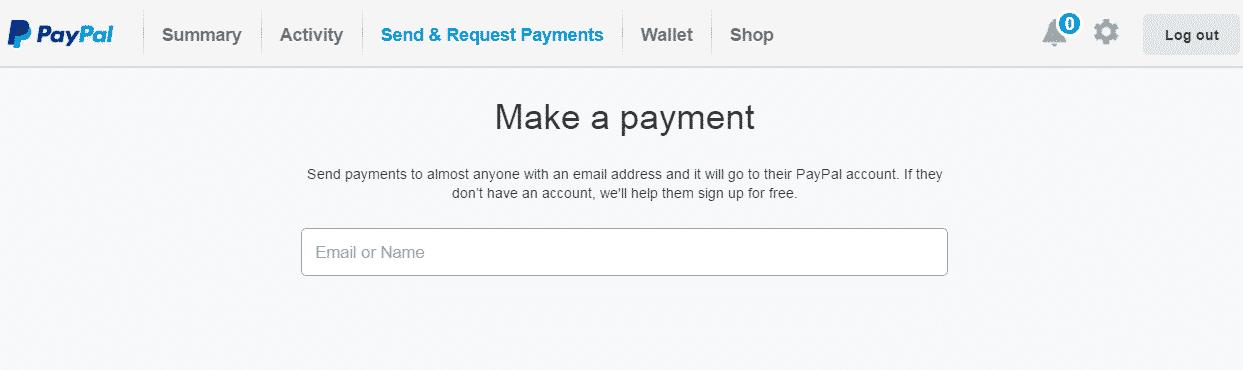 make a paypant cont paypal