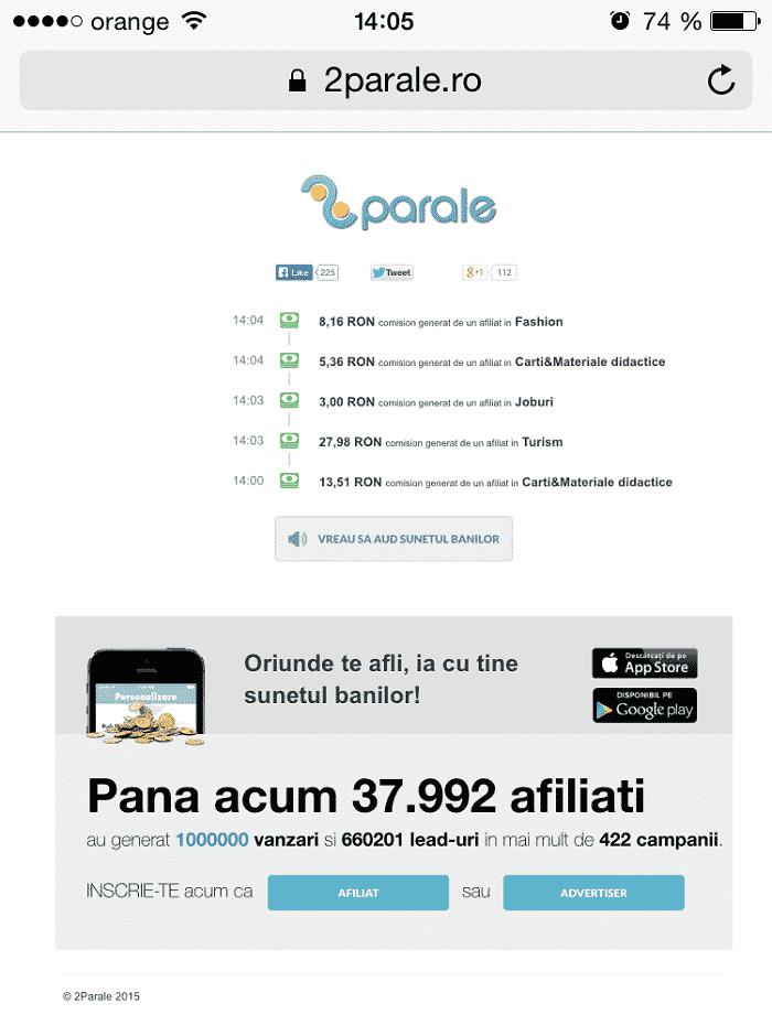 1 milion vanzari_2Parale
