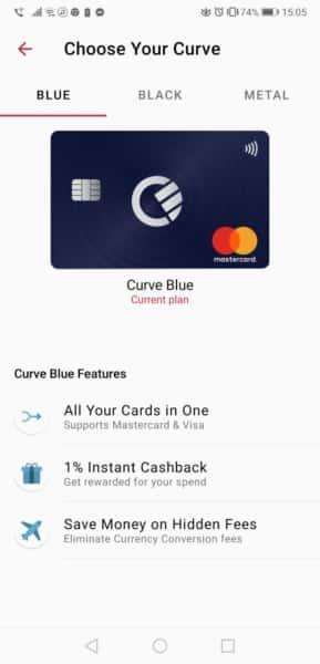 cardul curve aplicatie